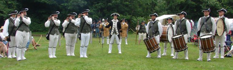 Colchester Continentals performing at a muster